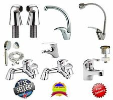 Bathroom Taps Lever Set Basin Mono Sink Bath Filler Shower Mixer Hot Cold Tap