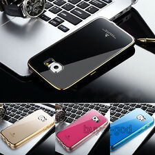 Luxury Thin Aluminum Metal Frame & Acrylic Back Case Cover For Samsung Galaxy S6