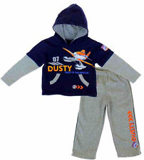 BOYS DISNEY PLANES CASUAL COTTON BLEND MULTI PRINT HOODED TRACKSUITS SETS,2-8YRS