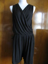 New w/tags Elie Tahari women's black rayon jumpsuit Sz Medium,Large retail $188