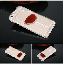 Red Wine Glass Beer Cocktail Moving Liquid 3D Case Cover For iPhone 5 6 6 Plus