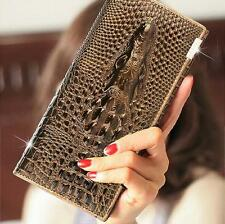 Stylish Hot Selling Women Card Long Clutch  Crocodile Wallet Girls Purse HandBag