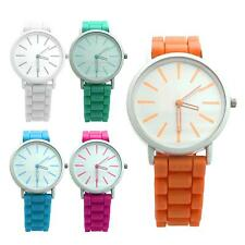 Lovely Unisex Candy Color Watch Quartz Time Pointer Dia Silicone Band Wristwatch