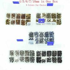 100 Pairs Glass Eyes Kits 4/5/6/7/10mm All in One Box for Teddy Bears Dolls Eyes