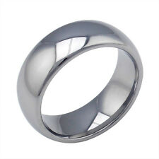 Sz7-13 Tungsten Steel Silver Tone Smooth 8MM Band Ring Men's Wedding Engagement