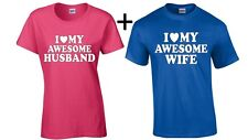 Couple T Shirt I Love My Awesome Husband Wife Valentines Day Gift for Him shirt