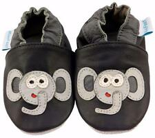 MINIFEET SOFT LEATHER BABY SHOES 0-6, 6-12, 12-18,18-24 Mths & 2-3 Yrs ELEPHANT