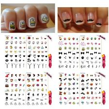 x70  Nail Decals -Summer/Zipper/Kitty/Kiss/Heart/Cartoon/Mickey/Cupcake/Stickers