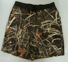Men's Realtree Advantage Max 4 HD Camo Brown Waist Fishing Swim Board Shorts NWT
