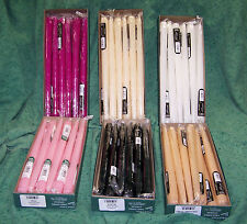 """1 Dozen 12"""" Patrician Hand Dipped Taper Candles Color Choice Made in USA"""