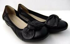 Soft Full Leather BALLET Low Heel FLATS Black Comfort SLIP ON Casual WORK Shoes