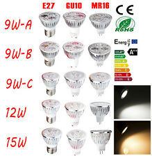 9W 12W 15W Spot Lights MR16/E27/GU10/E26/GU5.3 CREE LED Ultra Bright Lamp Bulb
