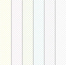 Craft Creations A4 Decorative Card Stock Pastel Polka Dots On White 240gsm