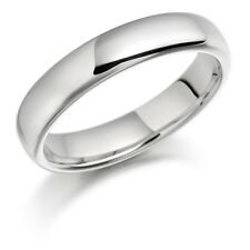 925 Sterling Silver Womens Mens 5mm D Shape Wedding Band Ring  All Sizes