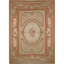 American Home Rug Co. Grandeur Gold/Coral Needlepoint Aubusson Area Rug