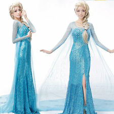 ADULTS PRINCESS ELSA STYLE COSTUME FANCY DRESS PARTY PRICE FROZEN CHRISTMAS
