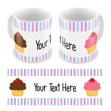 Personalised Printed Cupcakes Any Text or Name Mug Cup Gift Boxed