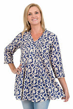 Spirituelle Lulu Cotton Tunic Top - Blue Latte Size S - 2XL