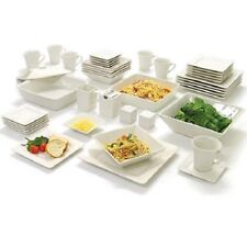45pc Modern Square Dinnerware Set Bowls Plates Dishes Mugs Meal Dinner Service