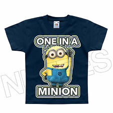 One In a Minion Despicable Me Dave Funny Geek Kids T-Shirt 1-2 to 12-13 Years