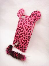 3D Leopard Animal Fur Tige Tail Case Cover Skin For cell MOBILE PHONES CE1