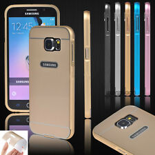 Hot Aluminum Metal Frame Case PC Hard Acrylic Back Cover Skin For Samsung Galaxy