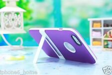 Apple iPhone 6 Ultra Slim Dual Layer Purple Case Cover with Kickstand