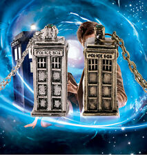 Fashion TARDIS Necklace Doctor Who 3D Police Box Pendant Chain Gifts New Jewelry