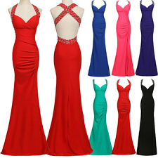 Sexy Mermaid Formal Prom Cocktail Evening Gown long Dress Vestidos de graduation