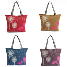 New Women Canvas Dandelion Handbag Shoulder Bag Satchel Shopper Messenger Tote