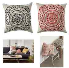 """IKEA RYSSBY CUSHION COVER PILLOW CASE 20"""" X 20"""" LINEN EACH SIDE DIFFERENT DESIGN"""