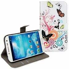 Colorful butterflies Pattern Wallet Leather Case for Samsung Galaxy Model