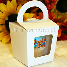 """White Cupcake / Muffin Paper Boxes Decorations Party Shower Favor Gift 3""""x3""""x3"""""""