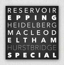 Personalised Word Canvas 40x40cm Add Your Custom Text 6-7 lines bus roll print