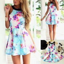 Cute Sexy Lady Summer Casual Sleeveless Party Evening Cocktail Short Mini Dress