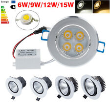 6W 9W 12W 15W Dimmable COB LED Recessed Ceiling Down Light Plafonniers lustres