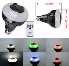 Stage Led LIGHT With Bluetooth Speaker Lamp +IR Remote 8W E27 Sound Actived RGB