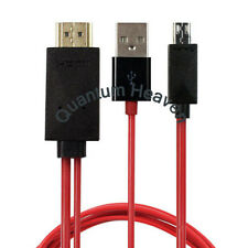 MICRO USB MHL to HDMI HDTV ADAPTER CABLE FOR SAMSUNG GALAXY PHONE