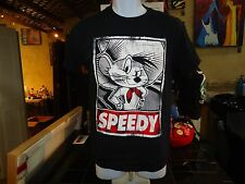 (W) Speedy Gonzales black small t-shirt, animated mouse from Looney Tunes