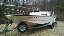 2006 BOSTON WHALER 17 MONTAUK WITH TRAILER, NAVIGATION, FISHING PACKAGE, EXTRAS