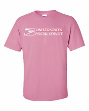 USPS POSTAL PINK T-SHIRT FULL TWO COLOR POSTAL LOGO ON CHEST SIZES SMALL - 3X