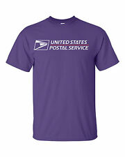 USPS POSTAL PURPLE T-SHIRT FULL TWO COLOR POSTAL LOGO ON CHEST SIZES SMALL - 3X