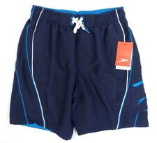 Speedo Navy Blue Brief Lined Quick Dry Water Shorts Swim Trunks Mens NWT