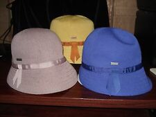 KANGOL Bamboo Cloche Hat-3 Colors-NWT
