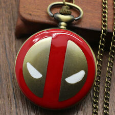 DEADPOOL Marvel Comics Black/Bronze Quartz Pocket Watch Men Women Gift 341