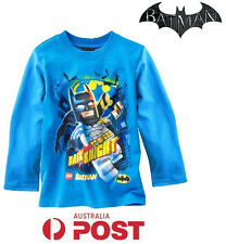 NEW Batman Super Hero Boys Tshirt Superhero Kids Tee Top T Shirt Long Sleeve