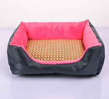 Small Medium Large Pet Summer Sleeping Mat Dog Cat Bamboo Cooling Pad Cushion