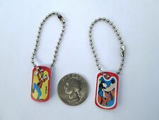 Disney Goofy Bright Miniature Dogtag Charm Key chain Backpack Party Favor