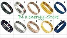 ANION Magnetic Energy Germanium Bracelet Health  Bio Armband TITANIUM Power NEW
