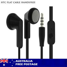 Flat Cable Anti Tangle Headphone Handsfree Headset for HTC Mobile Phone